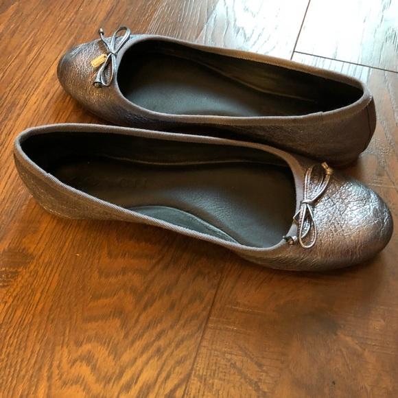 4a3751b27 Coach Shoes | Womens Flatiron Ballet Flats In Gunmetal | Poshmark